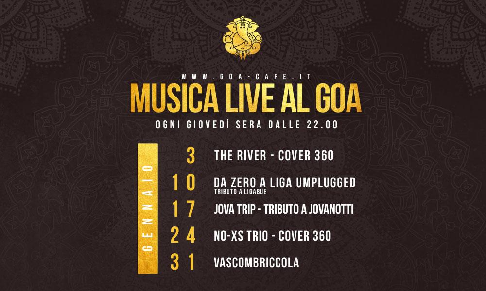 Gennaio – Musica live al Goa